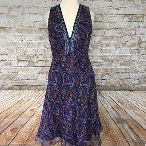 NWT Laundry by Shelli Segal 100% silk dress size 4